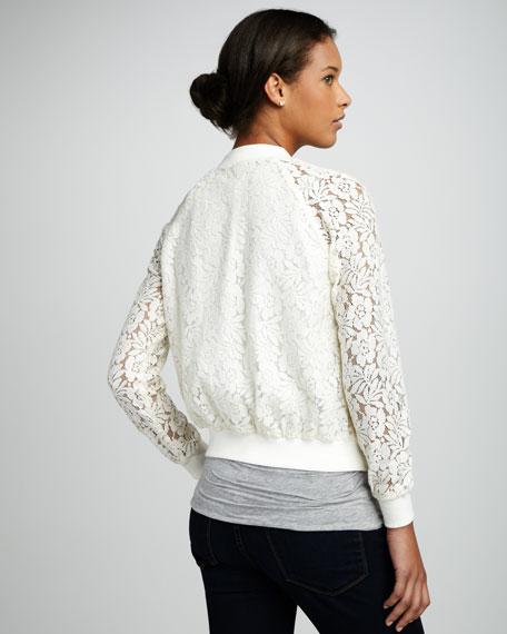 Isabella Daisy-Embroidered Bomber Jacket