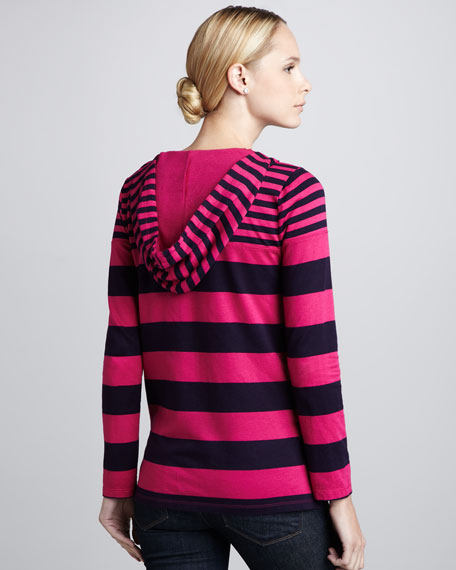 Cambridge Striped Hooded Top