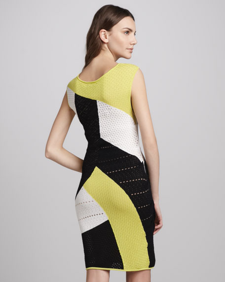 Perforated Scoop-Neck Dress
