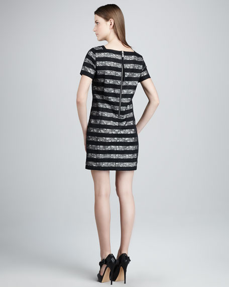 Lucienne Lace-Stripe Dress