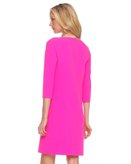 Dolman-Sleeve Shift Dress
