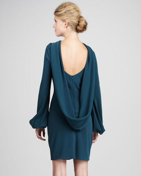 Laura Drape-Back Dress