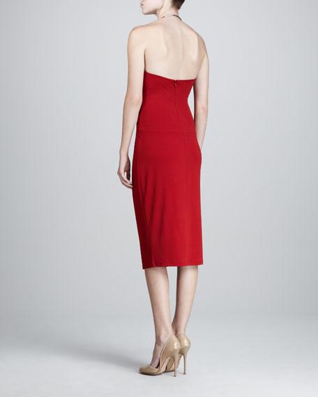 Ring-Halter Jersey Dress