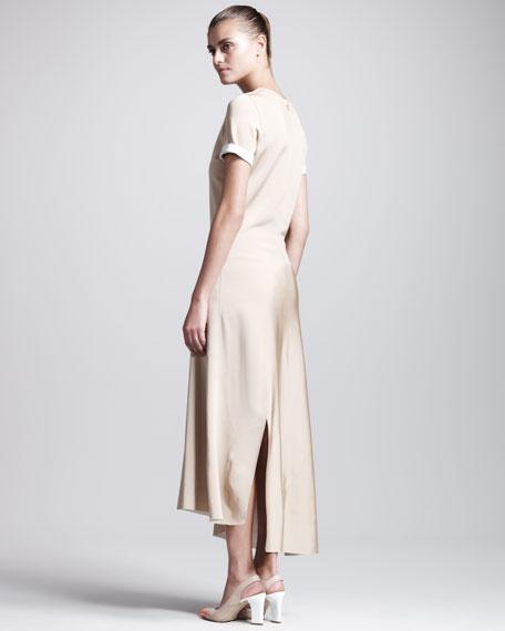 Jersey Short-Sleeve Dress