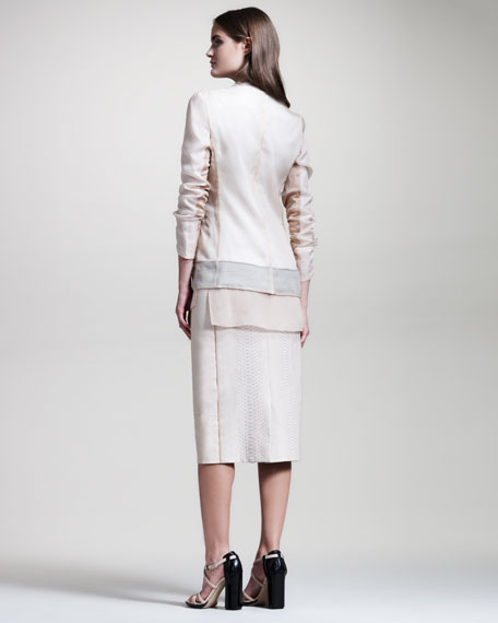 Python/Leather Skirt