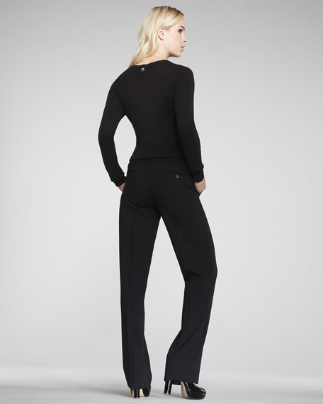 Serge Straight-Leg Pants, Black