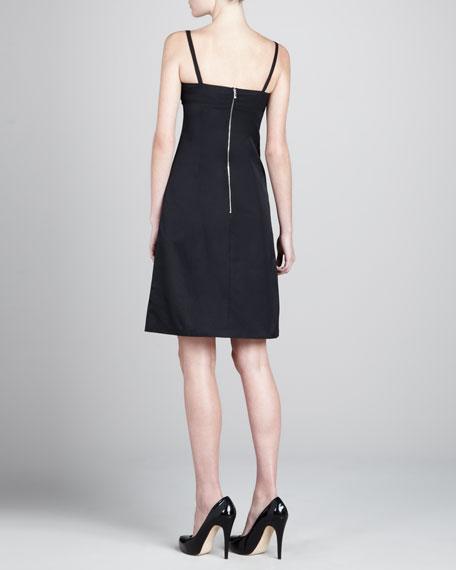 A-line Sateen Dress, Black