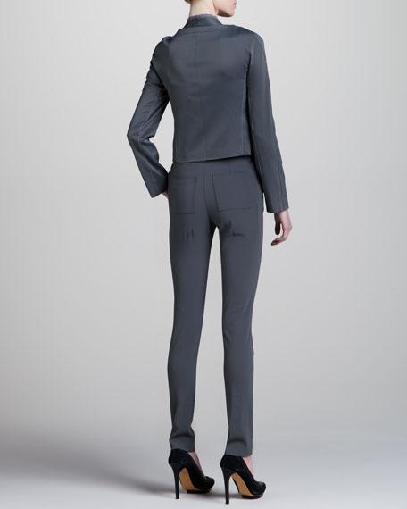 Stretch Suit Pants, Pewter