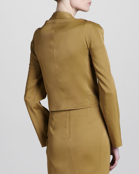 Stretch Suit Jacket, Gold