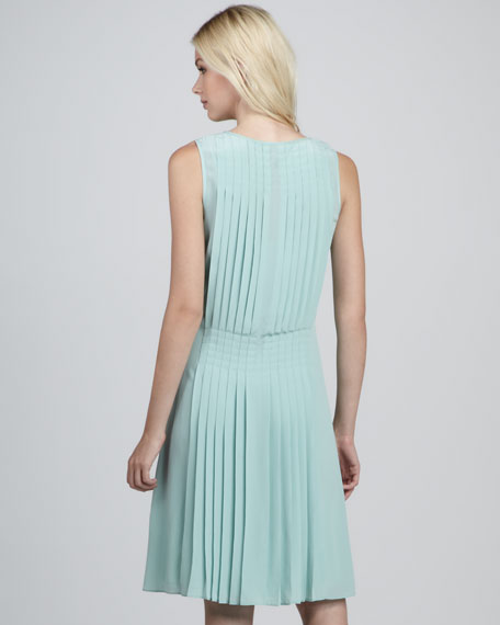 Karlie Pleated Silk Dress
