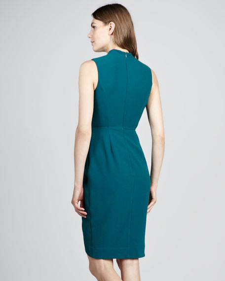 Annabel Fitted Crepe Dress