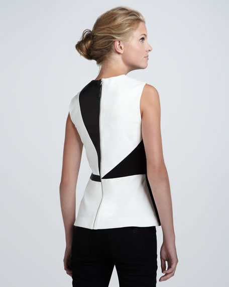 Waldorf Leather Peplum Top
