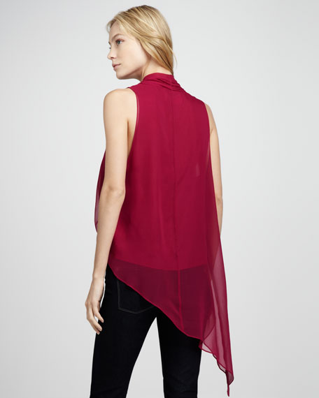 Jillian Chiffon Surplice Blouse