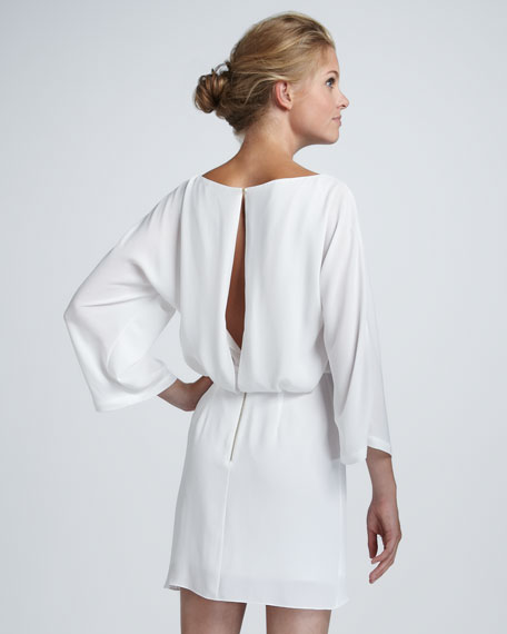 Jazlynn Chiffon Draped Dress