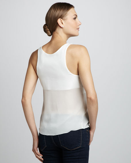 Mila Leather-Front Tank