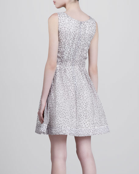 Spider-Organza Fit-and-Flare Dress