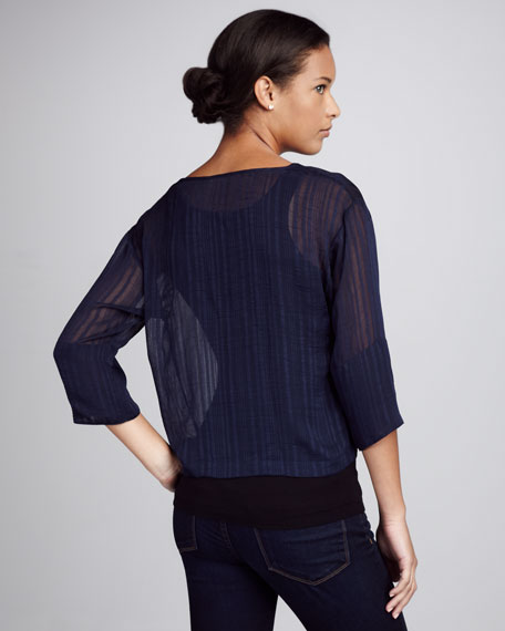 Tonal-Stripe Top