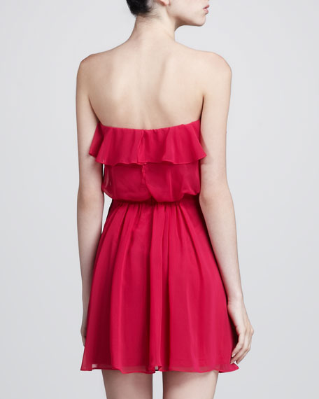 Strapless Ruffle-Trim Dress
