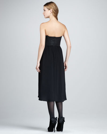 Roslyn Strapless High-Low Dress
