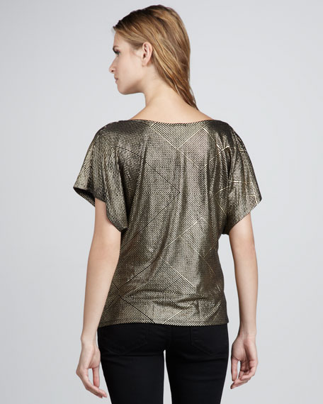 Gilda Metallic Top