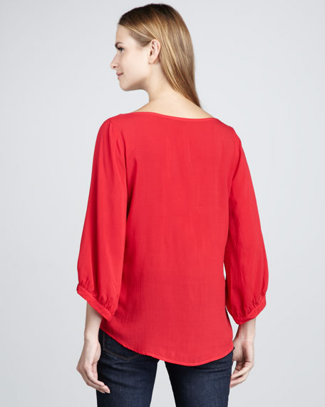 Loose Boat-Neck Top