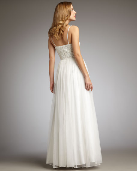 Beaded Organza Gown