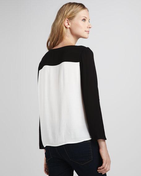 Alison Colorblock Silk Top