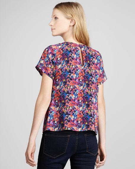 Heston Floral-Print Top