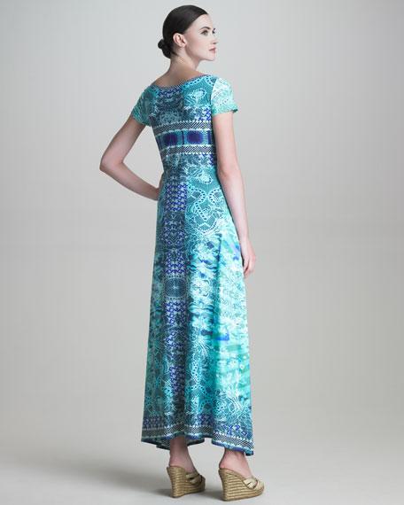 Short-Sleeve Jersey Maxi Dress
