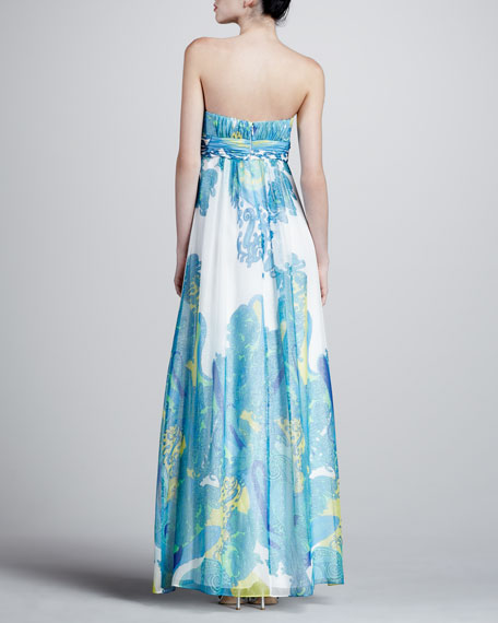 Paisley Sweetheart Gown, Blue