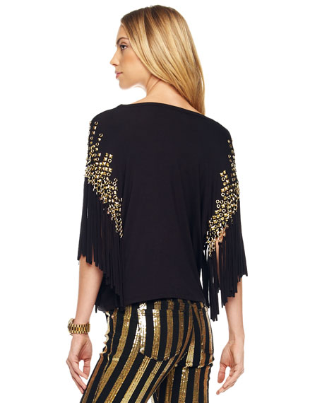 Embellished Fringe Top