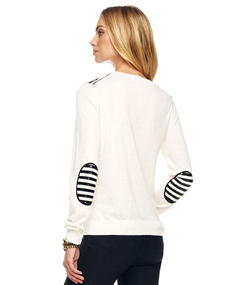 Sequin-Stripe Sweater
