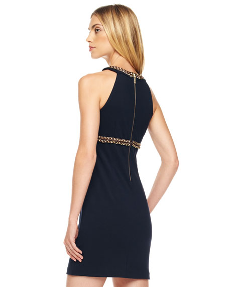 Chain-Trim Dress