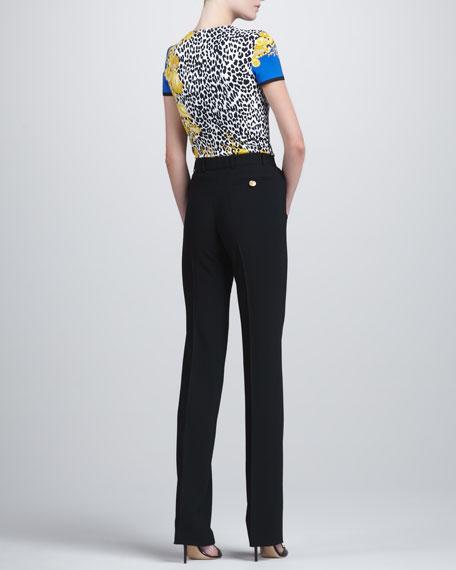 High-Waist Suit Pants