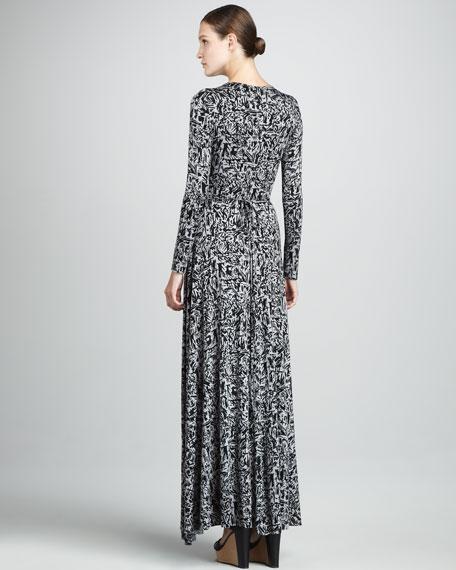 Print Wrapped Maxi Dress, Women's