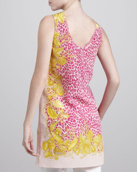 Sleeveless Leopard-Print Tunic