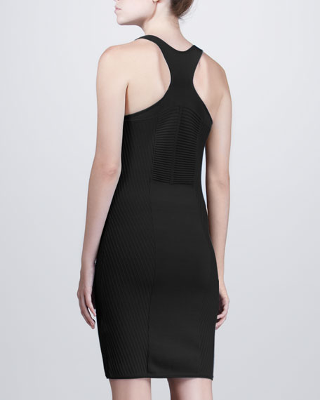 Fitted Tank Dress, Black