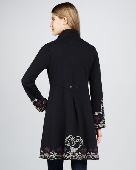 Tegan Embroidered Military Coat