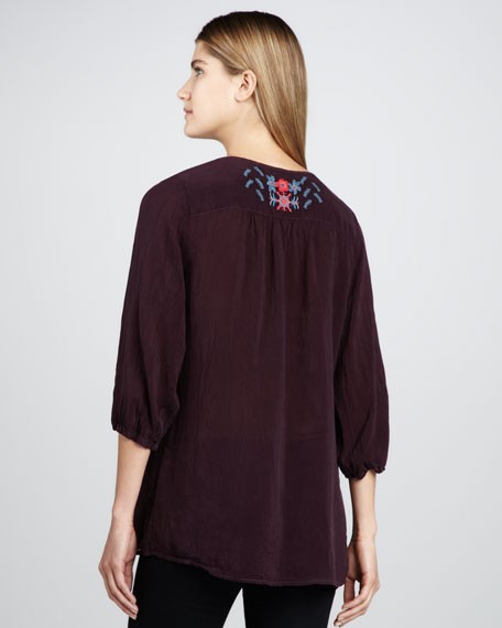 Alexandra Embroidered Blouse, Women's