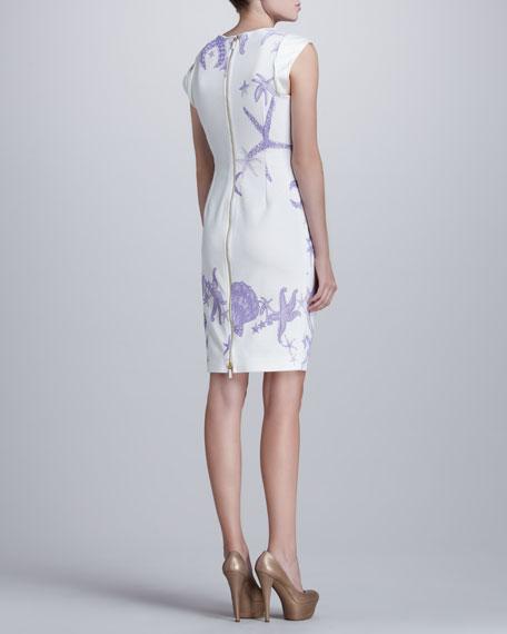 Starfish-Print Dress