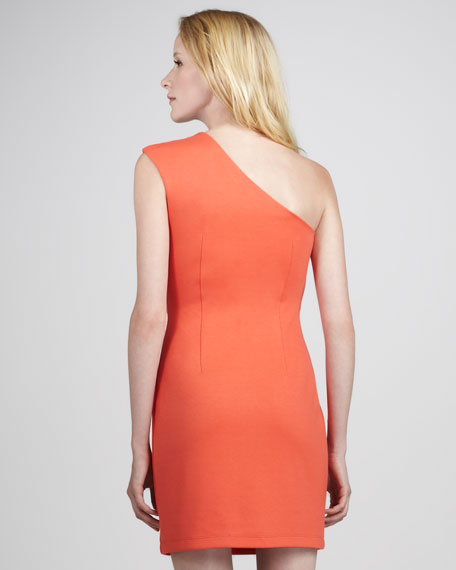 Paranoia One-Shoulder Ponte Dress
