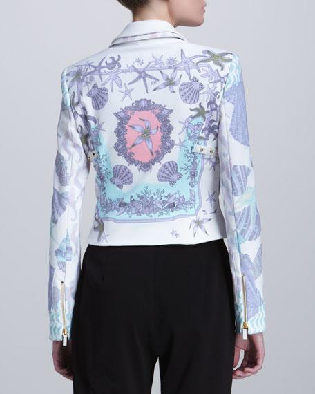 Ocean-Print Zip Jacket