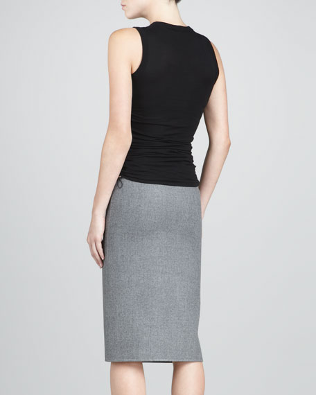 Slit Flannel Skirt