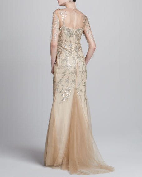 Sequined Netted Gown