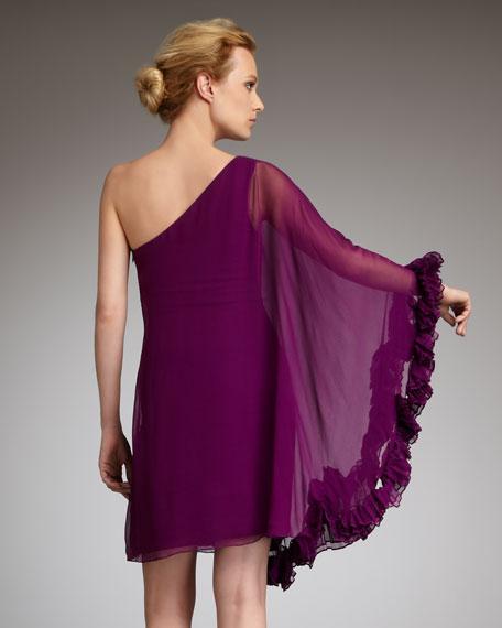 One-Sleeve Caftan Cocktail Dress