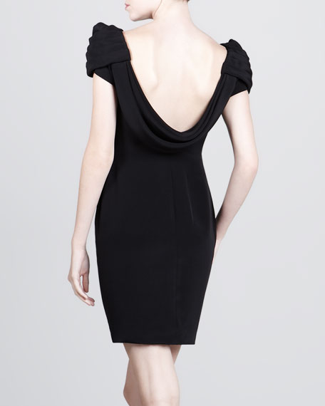 Gathered-Shoulder Dress