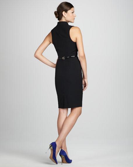 Michelle Belted Faux-Wrap Dress