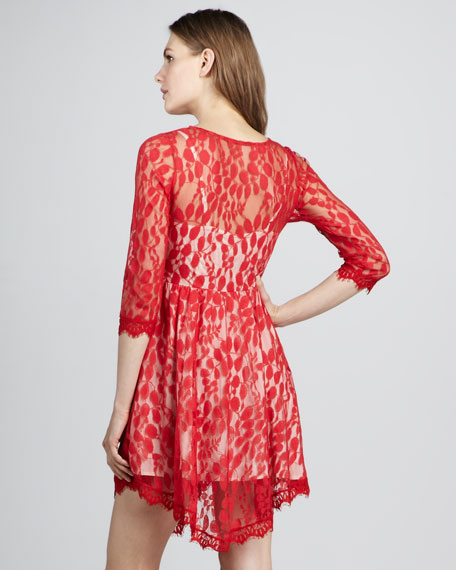 Lace Eyelash-Hem Dress