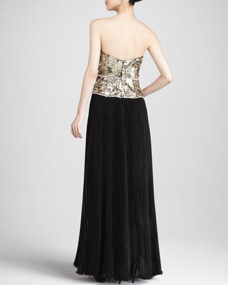 Metallic-Top Combo Gown