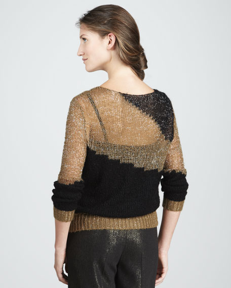 Shimmery Two-Tone Sweater